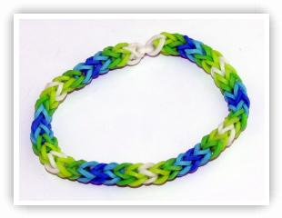 Rainbow Loom Patterns - 3 Pin Fishtail bracelet
