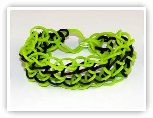 Rainbow Loom Patterns - 3 Segment Dragonscale bracelet
