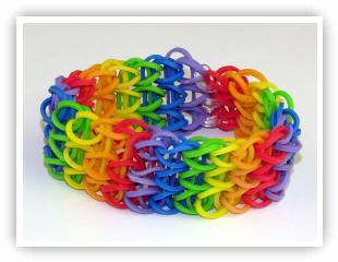 Rainbow Loom Patterns - All Around Triple Single bracelet