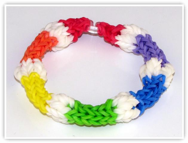Rainbow Loom Patterns - Bobble bracelet