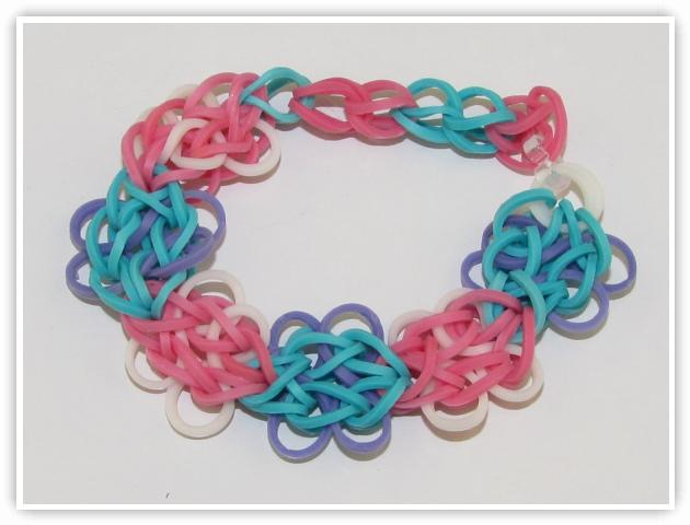 Rainbow Loom Patterns - Butterfly Blossom bracelet