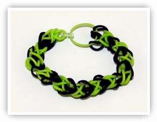 Rainbow Loom Patterns - Diamond bracelet