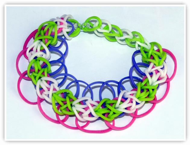 Rainbow Loom Patterns - Diamond With Rings bracelet