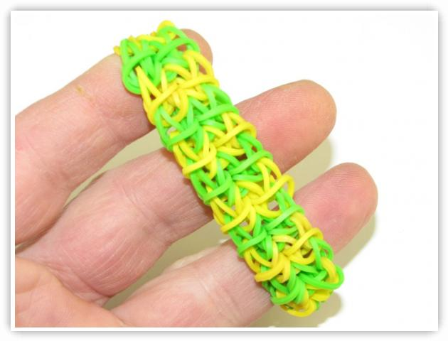Rainbow Loom Patterns - Double Rhombus bracelet