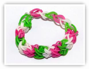 Rainbow Loom Patterns - Double X bracelet
