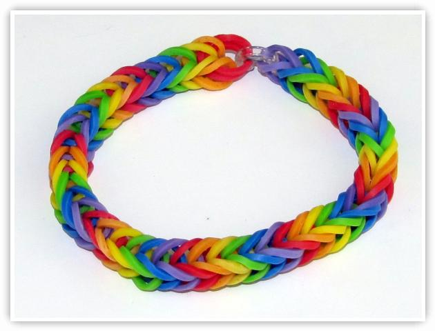 Rainbow Loom Patterns - Fishtail bracelet