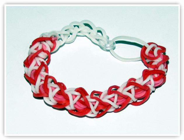 Rainbow Loom Patterns - Heart Shaped bracelet