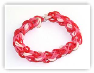 Rainbow Loom Patterns - Hugs And Kisses bracelet