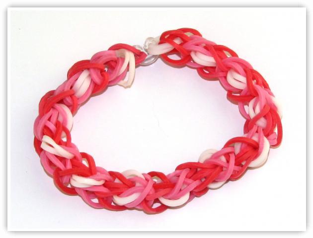 Rainbow Loom Patterns - Hugs And Kisses bracelet