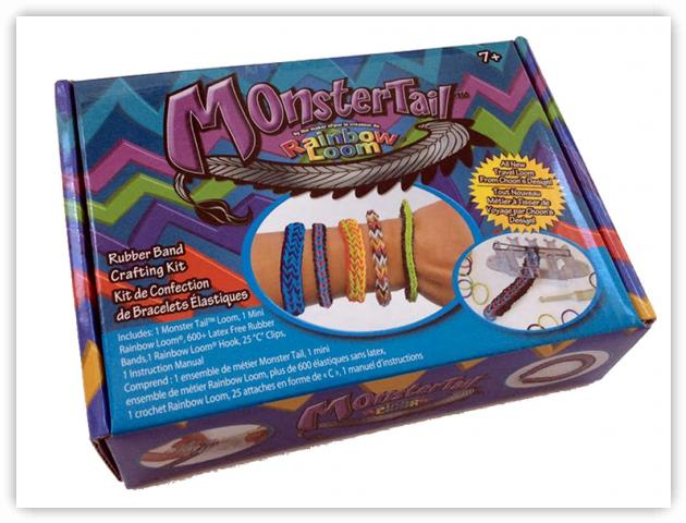 Rainbow Loom Patterns - Monster Tail
