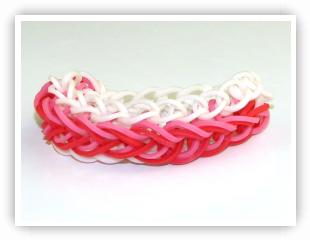 Rainbow Loom Patterns - Raindrops bracelet