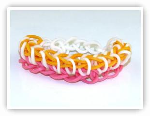 Rainbow Loom Patterns - Single Rhombus bracelet