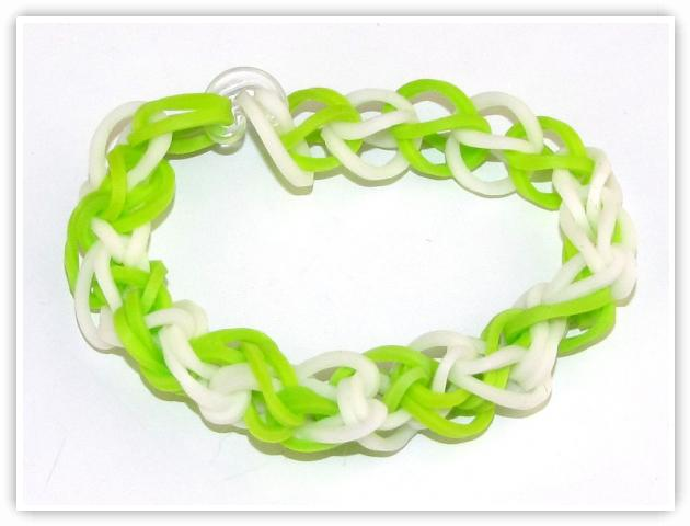 Rainbow Loom Patterns - Spiral bracelet