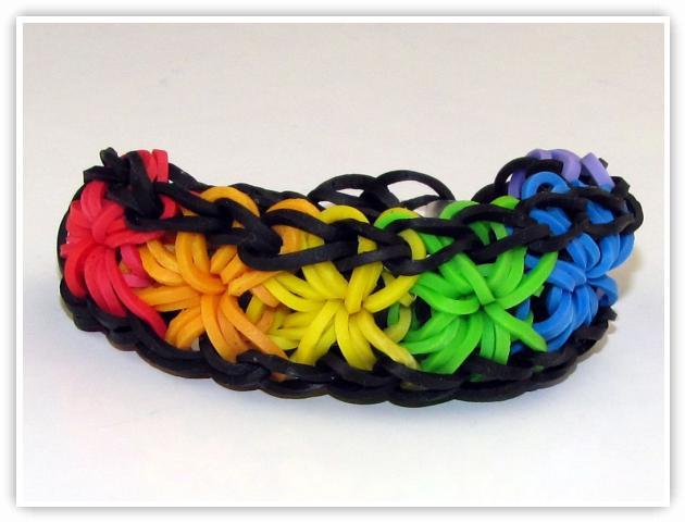 Rainbow Loom Patterns - Starburst 2 bracelet