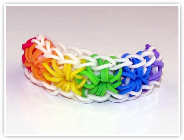 Rainbow Loom Patterns - Starburst bracelet
