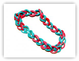 Rainbow Loom Patterns - Symmetric Single bracelet