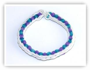 Rainbow Loom Patterns - Triple Looped Fishtail bracelet