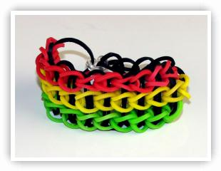 Rainbow Loom Patterns - Triple Single bracelet