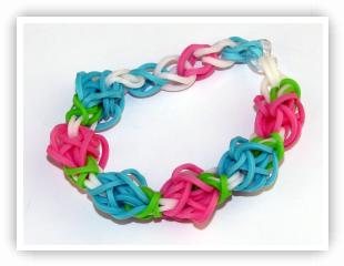 Rainbow Loom Patterns - Tulip Tower bracelet