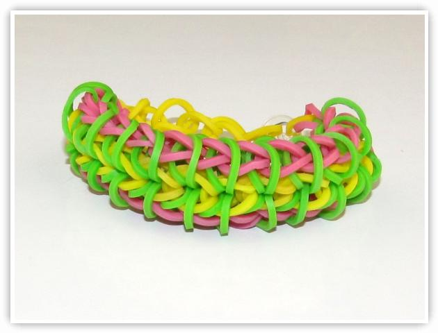 Rainbow Loom Patterns - Zippy Chain bracelet